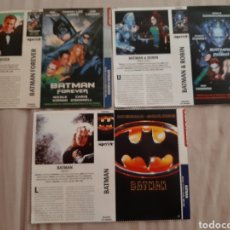 Cine: 3 CARÁTULA PELÍCULA VHS BATMAN (SUPERTELE) AÑOS 90. Lote 205279362