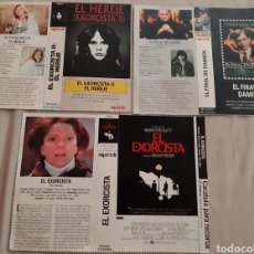 Cine: 3 CARÁTULA PELÍCULA VHS EL EXORCISTA (SUPERTELE) AÑOS 90. Lote 205279580