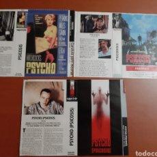 Cine: 3 CARÁTULA PELÍCULA VHS PSICOSIS (SUPERTELE) AÑOS 90. Lote 205300336