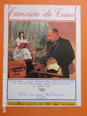 ARTICULO 1994 - CANCION DE CUNA FIORELLA FALTOYANO MARIBEL VERDU - TAMAÑO 22,5 X 30 CM HOJA - 1 PAG (Cine - Varios)