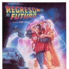 Cine: REGRESO AL FUTURO, DE ROBERT ZEMECKIS. CARTEL DE VIDEO Y PLÁSTICO 16 X 22 CMS... Lote 206962567