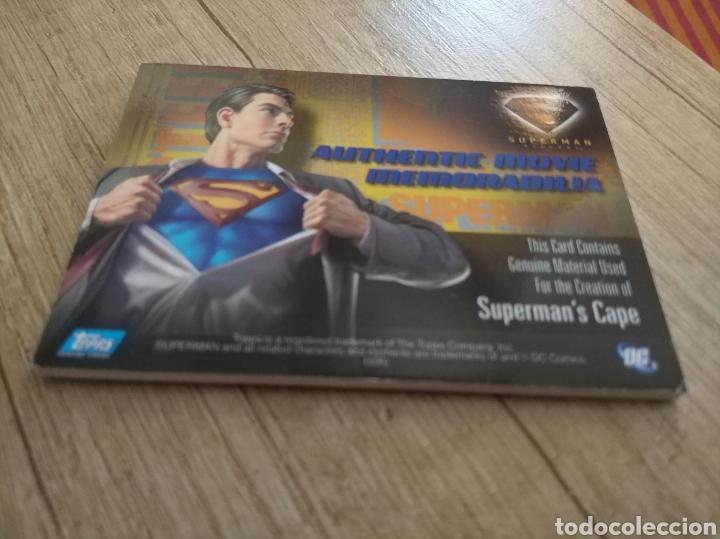 Cine: Autentico trozo de la capa de Superman de la película Superman Returns - Foto 2 - 207146358