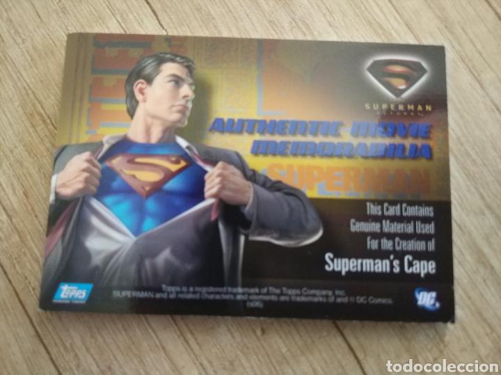 Cine: Autentico trozo de la capa de Superman de la película Superman Returns - Foto 8 - 207146358
