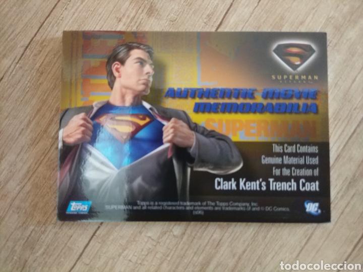Cine: Autentico trozo de Gabardina de Clark Kent utilizado en la película Superman Returns - Foto 2 - 207146511
