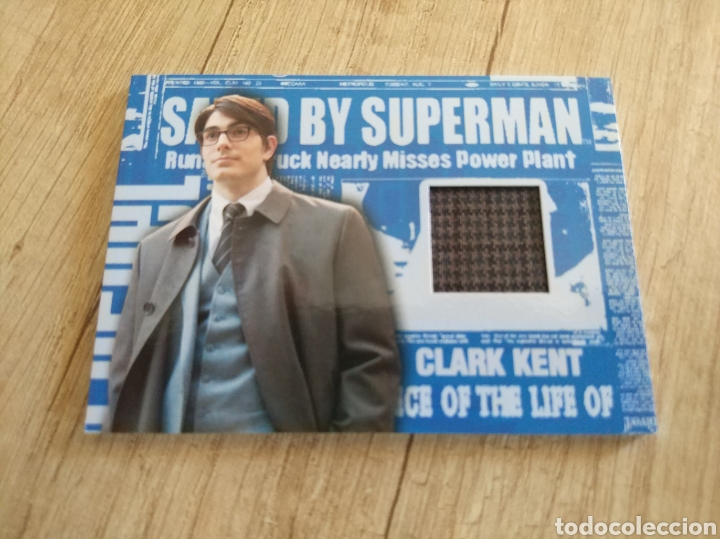 Cine: Autentico trozo de Gabardina de Clark Kent utilizado en la película Superman Returns - Foto 4 - 207146511