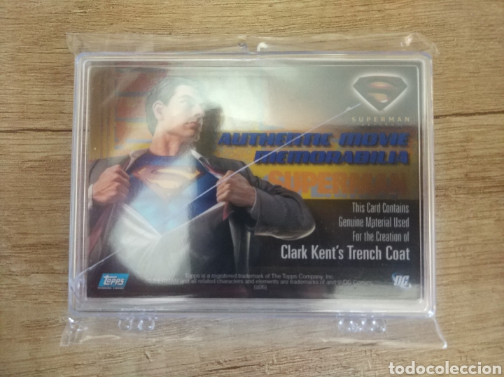 Cine: Autentico trozo de Gabardina de Clark Kent utilizado en la película Superman Returns - Foto 5 - 207146511