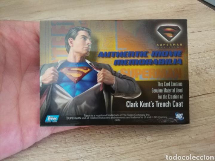 Cine: Autentico trozo de Gabardina de Clark Kent utilizado en la película Superman Returns - Foto 6 - 207146511