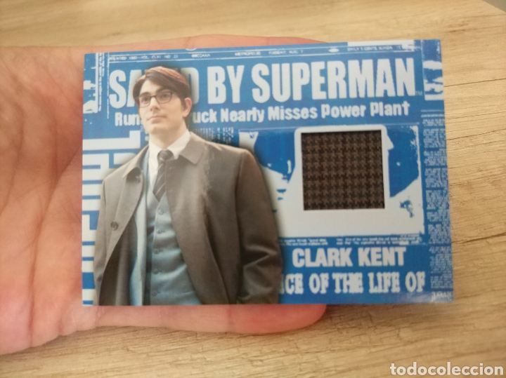 Cine: Autentico trozo de Gabardina de Clark Kent utilizado en la película Superman Returns - Foto 12 - 207146511