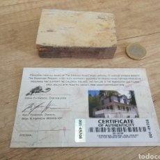 Cine: TROZO DE LA CASA DE LOS GOONIES !! CERTIFICADO AUTENTICIDAD (ÚNICO EN TODOCOLECCIÓN). Lote 208409090