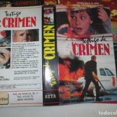 Cinema: SOLO CARATULA ~ TESTIGO DE CRIMEN ~. Lote 208471666