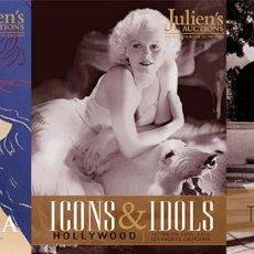 Cine: 3 CATALOGOS JULIENS AUCTIONS ICONOS E IDOLOS HOLLYWOOD JANE FONDA CINE MUSICA GALERIA ARTE. Lote 210618755