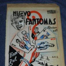 Cine: 2 PORTADAS ORIGINALES DE CINE ILUSTRADO POR JUAN FREXE - NUEVO FANTOMAS Y ENTERRADO VIVO. Lote 210731631