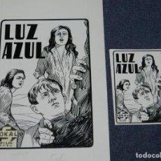 Cine: DIBUJO PORTADA ORIGINAL DE CINE - LUZ AZUL, SOKAL FILM, 12X22CM, SEÑALES DE USO NORMALES. Lote 210733389