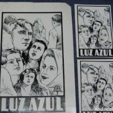 Cine: DIBUJO PORTADA ORIGINAL DE CINE - LUZ AZUL, SOKAL FILM, 12X22CM, SEÑALES DE USO NORMALES. Lote 210733616