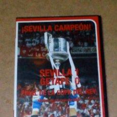 Cine: VENDO DVD, SEVILLA FC CAMPEÓN COPA DEL REY (SEVILLA 1 GETAFE 0 (REGALO OTRO DVD), VER FOTOS.. Lote 211593917