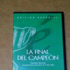 Cine: VENDO DVD REAL BETIS BALOMPIÉ CAMPEÓN DE LA COPA DEL REY 2005 (VER OTRA FOTO).. Lote 211595282