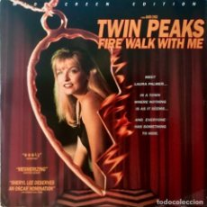 Cine: DOBLE LASERDISC TWIN PEAKS FIRE WALK WITH ME LAURA PALMER WIDESCREEN SPECIAL EDITION VO USA NTSC 92. Lote 212558192