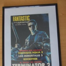 Cine: CUADRO PORTADA TERMINATOR 2 DE LA REVISTA FANTASTIC MEGAZINE. Lote 215479692