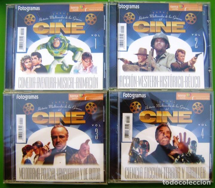 LOTE HISTORIA MULTIMEDIA DE LA HISTORIA DEL CINE (4 CDS) - FOTOGRAMAS (Cine - Varios)
