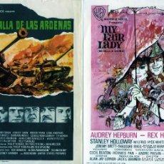 Cine: CINE-FOLLETOS DE MANO-DOS PROGRAMAS DISTINTAS PELICULAS=MY FAYR LADY Y LA BATALLA DE LAS ARDENAS=.. Lote 218279415