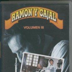 Cine: VIDEO VHS: RAMON Y CAJAL VOLUMEN 3. Lote 218704115