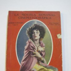 Cine: CINE-LA NOVELA SEMANAL CINEMATOGRAFICA-ALMANAQUE 1927-VER FOTOS-(V-22.268). Lote 219227340