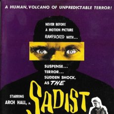 Cinéma: LIBRETO THE SADIST (EL SÁDICO) - JAMES LANDIS. Lote 219238985