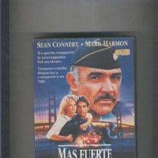 Cine: VIDEO VHS: MAS FUERTE QUE EL ODIO (SEAN CONNERY-MARK HARMON). Lote 219268836