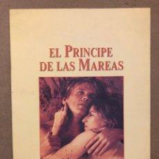 Cine: EL PRÍNCIPE DE LAS MAREAS (1991). LIBRETO PROMOCIONAL DE LA PELÍCULA. BARBARA STREISAND, NICK NOLTE. Lote 220260152