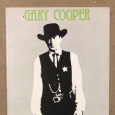 Cine: CICLO GARY COOPER (VITORIA 1987). LIBRETO CON LA PROGRAMACIÓN. CAJA PROVINCIAL DE ÁLAVA.. Lote 220261243
