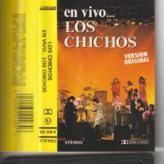 Cine: CASETTE ORIGINAL LOS CHICHOS EN VIVO. Lote 221375716