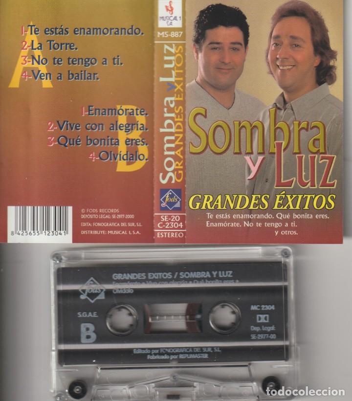 CASETTE ORIGINAL SOMBRA Y LUZ GRANDES EXITOS (Cine - Varios)