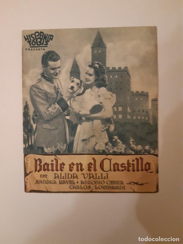 BAILE EN EL CASTILLO , PROGRAMA DE MANO DE CINE DEL CINEMA PRINCIPE DE VIANA DE PAMPLONA AÑOS 40 (Cine - Varios)