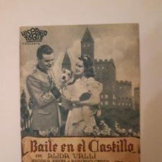 Cine: BAILE EN EL CASTILLO , PROGRAMA DE MANO DE CINE DEL CINEMA PRINCIPE DE VIANA DE PAMPLONA AÑOS 40. Lote 221828406