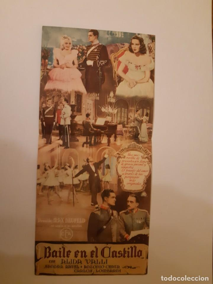 Cine: BAILE EN EL CASTILLO , PROGRAMA DE MANO DE CINE DEL CINEMA PRINCIPE DE VIANA DE PAMPLONA AÑOS 40 - Foto 2 - 221828406