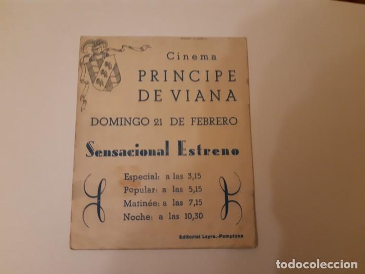 Cine: BAILE EN EL CASTILLO , PROGRAMA DE MANO DE CINE DEL CINEMA PRINCIPE DE VIANA DE PAMPLONA AÑOS 40 - Foto 3 - 221828406