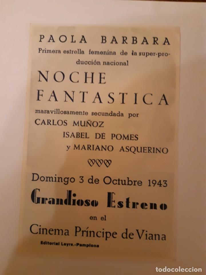 Cine: PAILA BARBARA , PROGRAMA DE MANO DE CINE, DEL CINEMA PRINCIPE DE VIANA DE PAMPLONA AÑOS 40 - Foto 2 - 221828623
