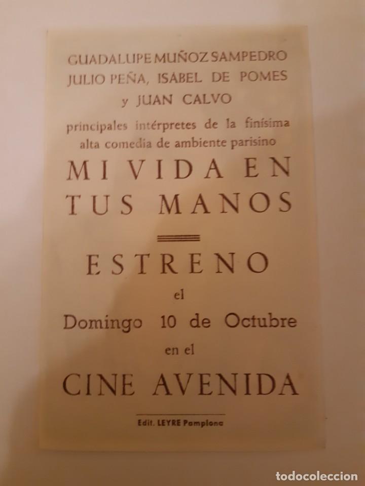 Cine: , PROGRAMA DE MANO DE CINE, DELCINE AVENIDA DE PAMPLONA AÑOS 40 - Foto 2 - 221828778