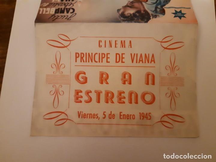 Cine: ASESINATO EN SOHO , PROGRAMA DE MANO DE CINE, DEL CINEMA PRINCIPE DE VIANA DE PAMPLONA AÑOS 40 - Foto 3 - 221829353