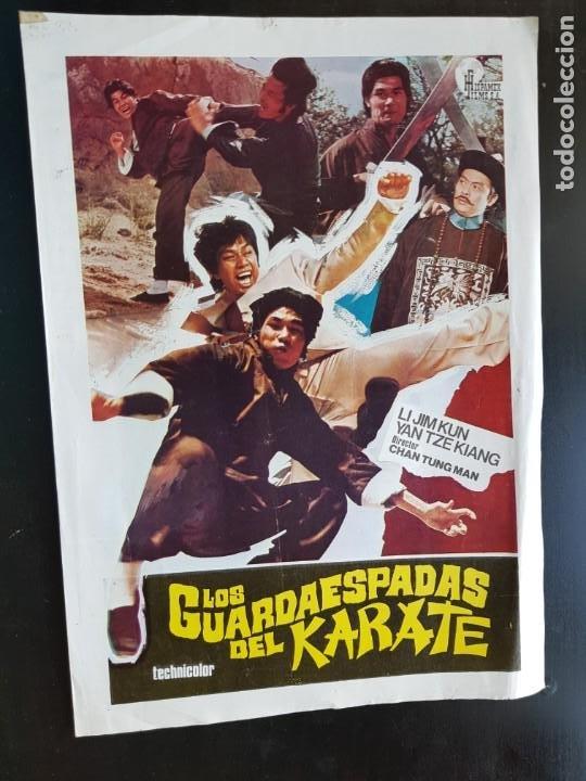 PÓSTER DE CINE LOS GUARDAESPADAS DEL KARATE ORIGINAL 1976 (Cine - Varios)