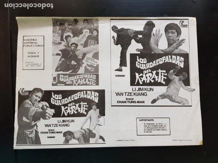 Cine: PÓSTER DE CINE LOS GUARDAESPADAS DEL KARATE ORIGINAL 1976 - Foto 2 - 221944135