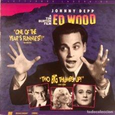 Cine: DOBLE LASERDISC ED WOOD - JOHNNY DEPP BILL MURRAY TIM BURTON V.O NTSC WIDESCREEN LASER DISC. Lote 221961365