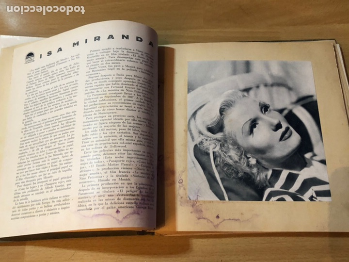 Cine: Radiocinema album de estrellas.clark gable errol Flynn carole lombard Estrellita castro.emi Jannings - Foto 6 - 221973358