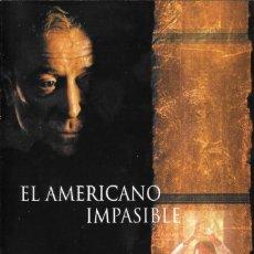 Cine: LIBRETO EL AMERICANO IMPASIBLE - PHILLIP NOYCE. Lote 222070545