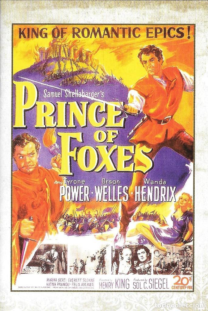 LIBRETO EL PRÍNCIPE DE LOS ZORROS - HENRY KING (Cine - Varios)
