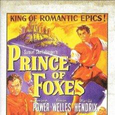 Cine: LIBRETO EL PRÍNCIPE DE LOS ZORROS - HENRY KING. Lote 222070692