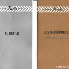 Cine: 2 LIBRETOS DE PELÍCULAS DE LOS KORDA. Lote 222071447