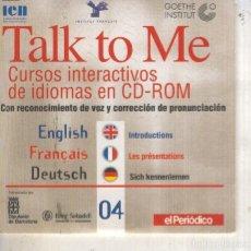 Cine: TALK TO ME: CURSOS INTERACTIVOS DE IDIOMAS EN CD-ROM. Lote 222263366