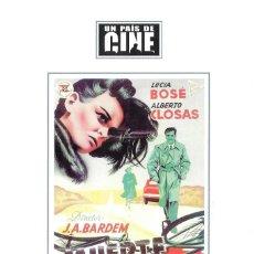 Cine: DÍPTICO DEL DVD MUERTE DE UN CICLISTA - JUAN ANTONIO BARDEM. Lote 222314005