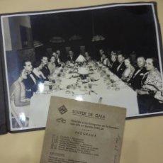 Cine: FOTO Y MENU FIRMADO CENA DE GALA. CONVENCION PRODUCTORA UFA EN ESPAÑA 1935-36. Lote 223670901
